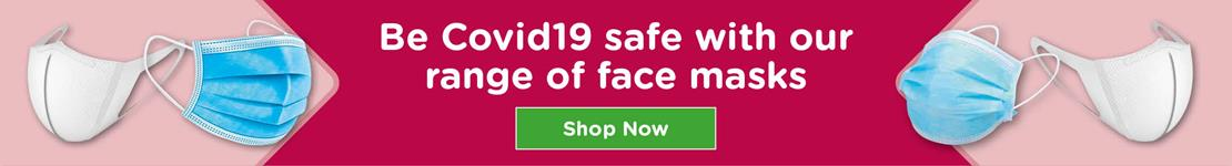 Be Covid-19 safe with our range of face masks